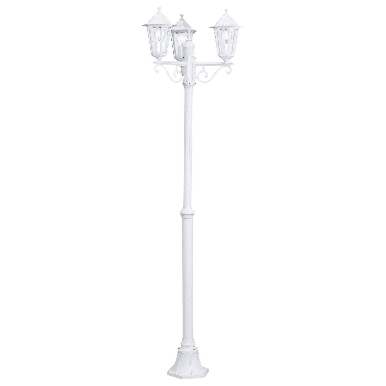 Lampadaire Extérieur Laterna E27 60 W, Blanc EGLO