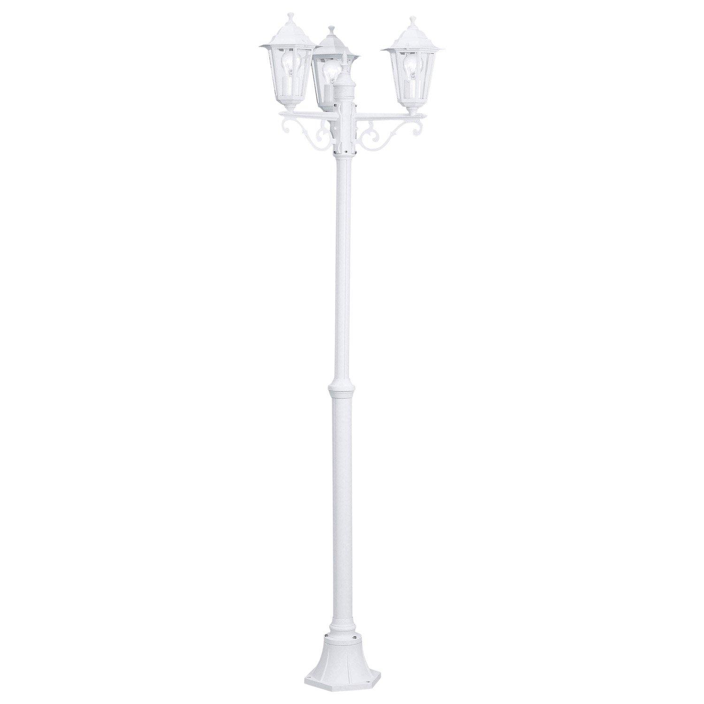 lampadaire ext rieur laterna e27 60 w blanc eglo leroy merlin. Black Bedroom Furniture Sets. Home Design Ideas