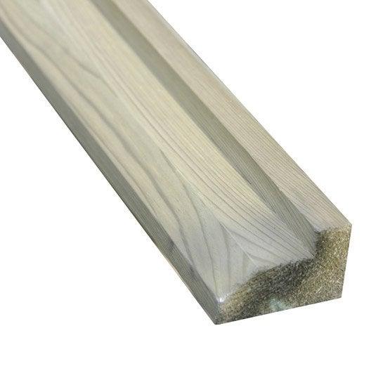Poutre de sol en bois, l.300 x H.4.5 x P.7 cm