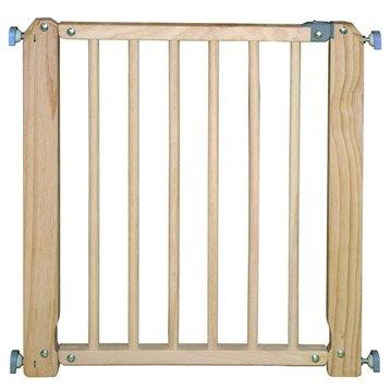Barrière de sécurité enfant bois, L.78/83 cm, H.74 cm
