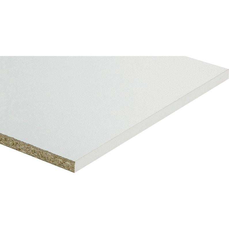 Tablette Agglomérée Blanc L250 X L40 Cm X Ep18 Mm