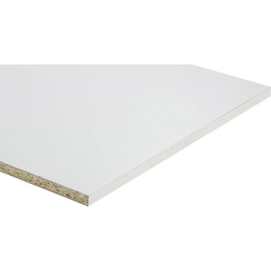 tablette agglom r e blanc x cm x mm. Black Bedroom Furniture Sets. Home Design Ideas