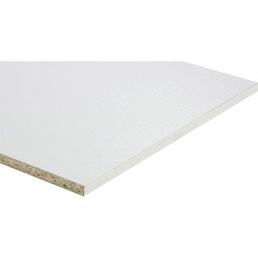 Tablette mélaminé blanc, L.250 x l.50 cm x Ep.18 mm