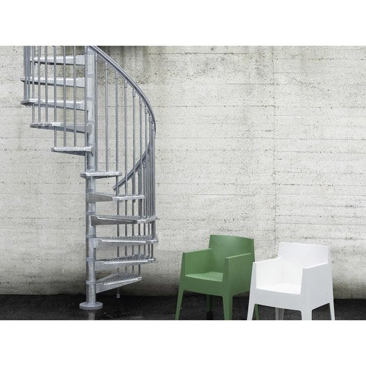 escalier steel zink pixima colima on rond en acier 13 marches leroy merlin. Black Bedroom Furniture Sets. Home Design Ideas