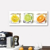 Verre imprimé Fruits in cubes DECO GLASS l.80 x H.30 cm