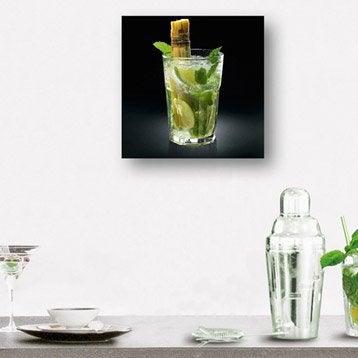Verre imprimé Yummy mojito DECO GLASS l.30 x H.30 cm