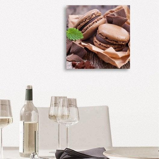 Verre imprim macarons chocolat deco glass x cm - Tableau en verre leroy merlin ...
