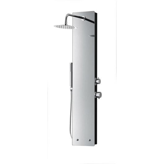 colonne de douche avec robinetterie sensea glassy effet miroir leroy merlin. Black Bedroom Furniture Sets. Home Design Ideas