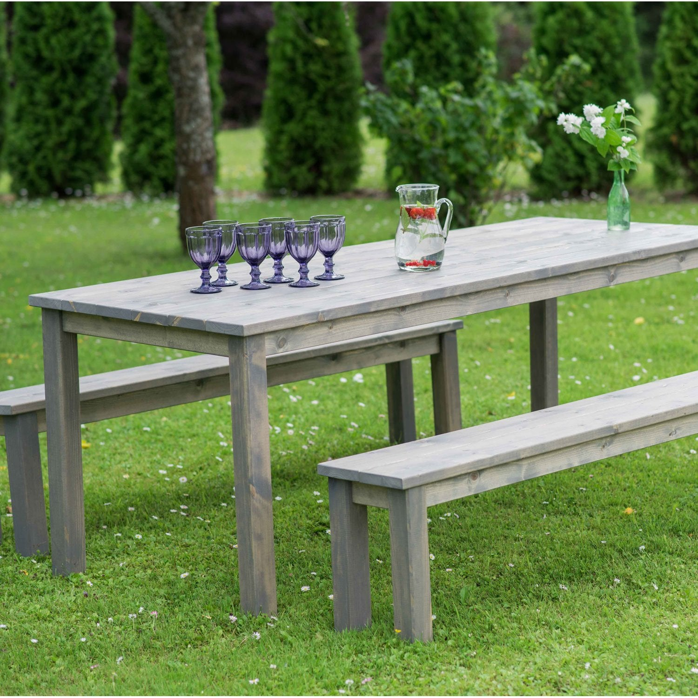 Salon de jardin Sapin bois 6 personnes 4752072700321 - Terrasse ...