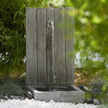 Fontaine et cascade d\'exterieur - Pierre, fonte au meilleur prix ...