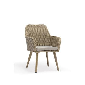 fauteuil fauteuil en rsine tresse alu 011 rotin - Chaise En Resine Tressee