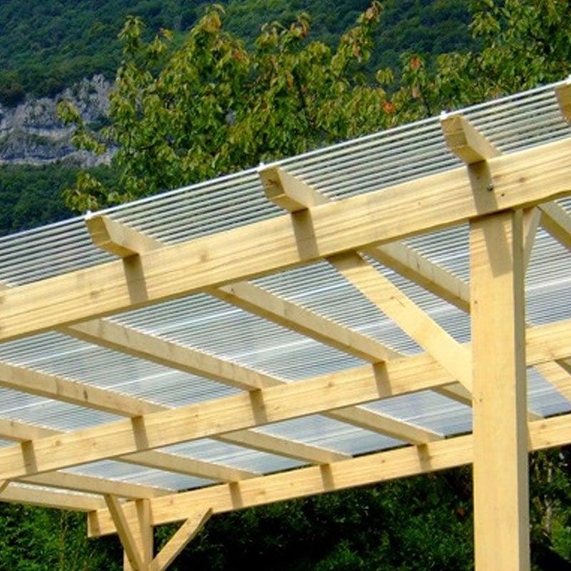 Plaque de toiture petite onde pvc translucide l.0.9 x L.2 ...