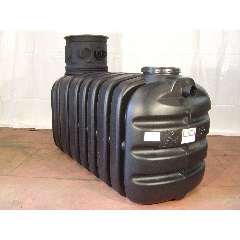 cuve r cup ration eau de pluie enterr e 3500l noire. Black Bedroom Furniture Sets. Home Design Ideas