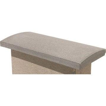 Couvre-mur béton arrondi H.5 x L.50 x P.23 cm