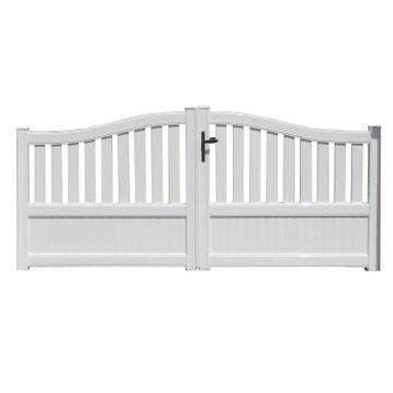 Portail portail aluminium bois fer pvc battant coulissant au meilleur prix leroy merlin for Portail aluminium battant 350