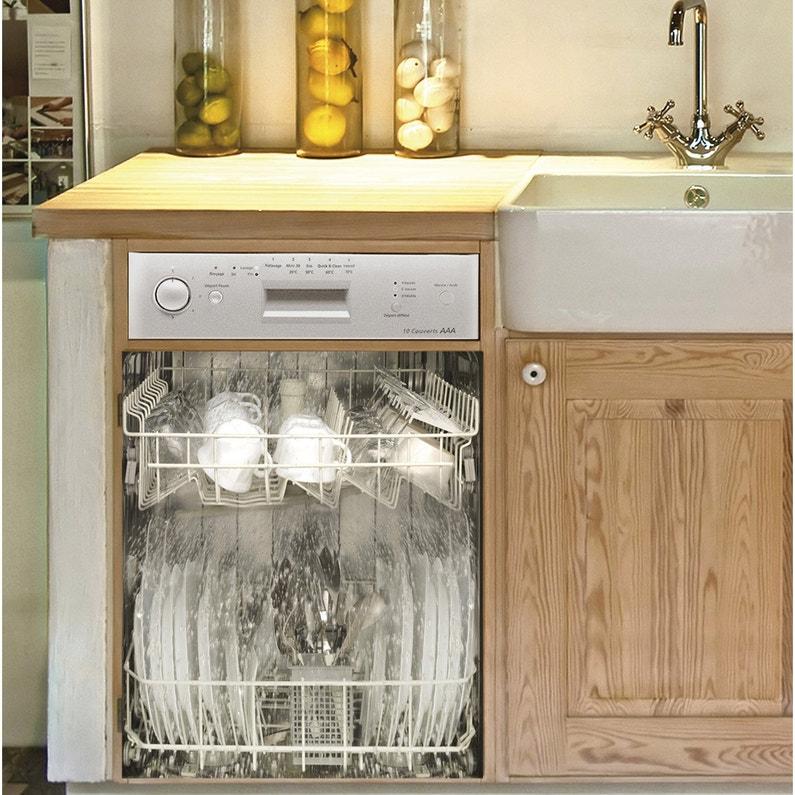 Sticker Lave Vaisselle Washing 59 Cm X 70 Cm