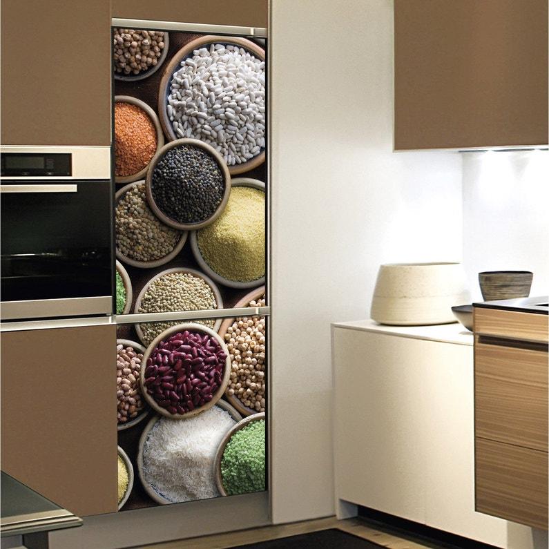 Sticker Réfrigérateur Légumes Secs 59 5 Cm X 180 Cm