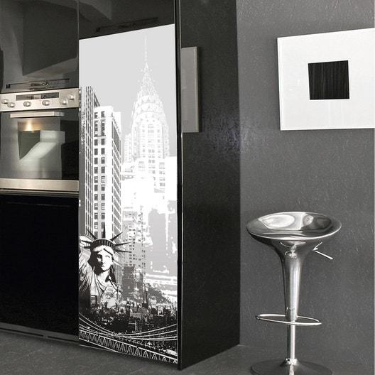sticker r frig rateur new york 59 5 cm x 180 cm leroy merlin. Black Bedroom Furniture Sets. Home Design Ideas