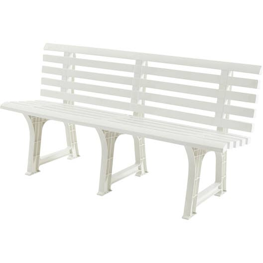 banc 3 places de jardin en r sine inject e isotta blanc leroy merlin. Black Bedroom Furniture Sets. Home Design Ideas