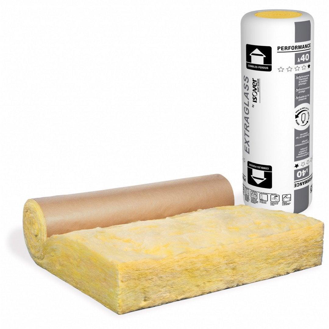 rouleau de laine de verre avec surfa age kraft isolant toiture 4 leroy merlin. Black Bedroom Furniture Sets. Home Design Ideas