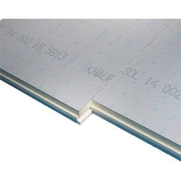 Panneau en polyuréthane,  KNAUF 1.2x1m, Ep.80mm, lambda 22, R=3.7