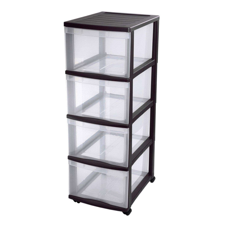tour de rangement optimo plastique x x cm leroy merlin. Black Bedroom Furniture Sets. Home Design Ideas