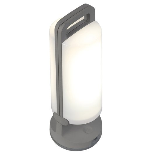 lampe solaire yuma 180 lm gris inspire | leroy merlin