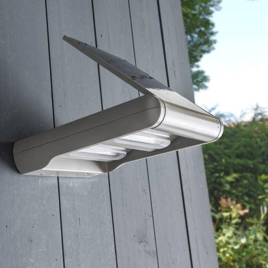 applique solaire jarvis 240 lm gris inspire leroy merlin. Black Bedroom Furniture Sets. Home Design Ideas
