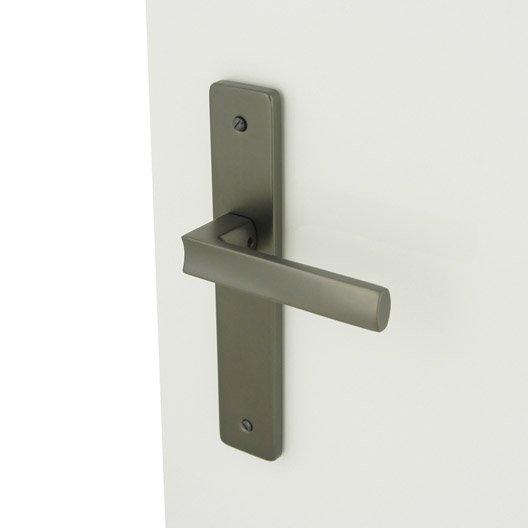 2 poign es de porte velizy sans trou inspire aluminium - Fixation tableau sans trou ...