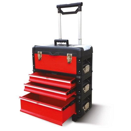servante de chantier mobitools mobi m tal 3 tiroirs 49 cm. Black Bedroom Furniture Sets. Home Design Ideas