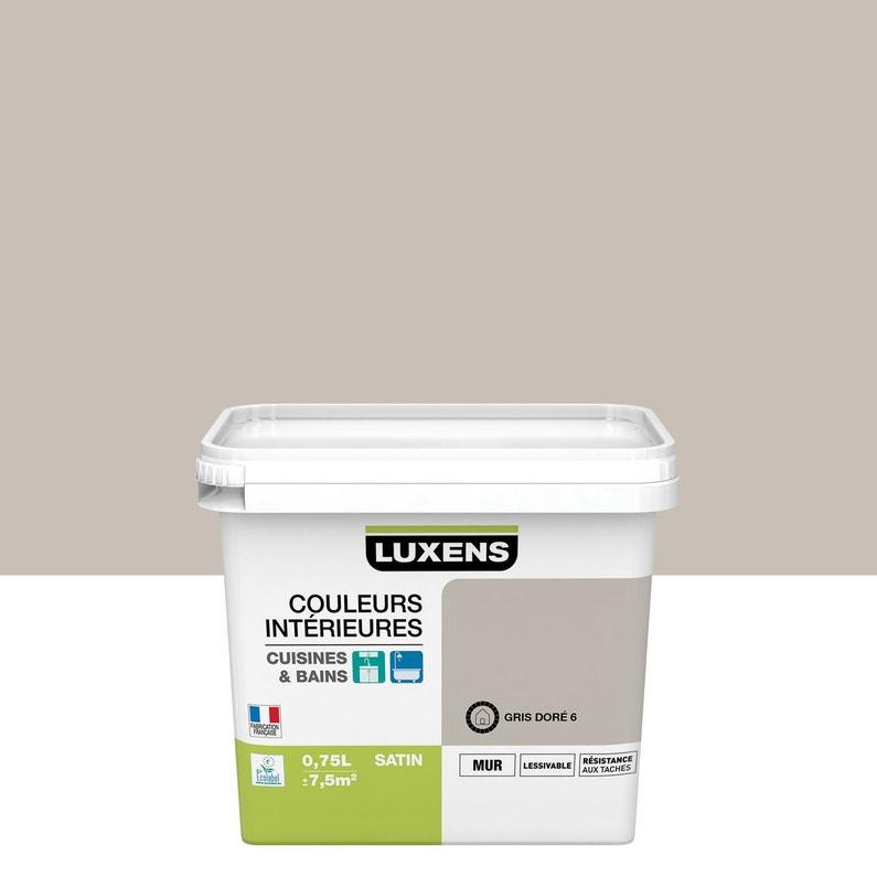 Peinture Couleurs Intérieures Luxens Gris Doré 6 075 L Leroy Merlin