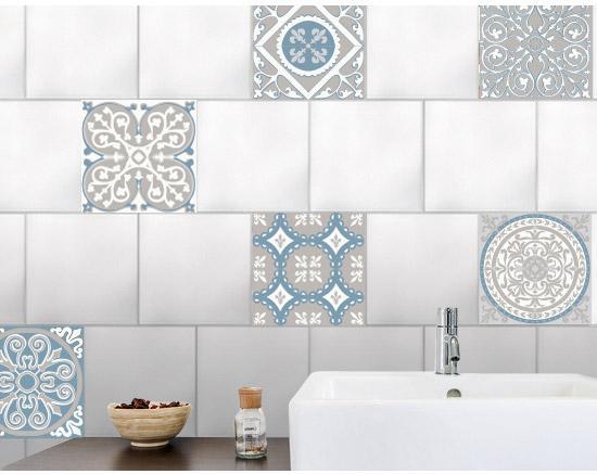 Stickers adhésifs carrelage mur Ciment 91 cm x 15 cm
