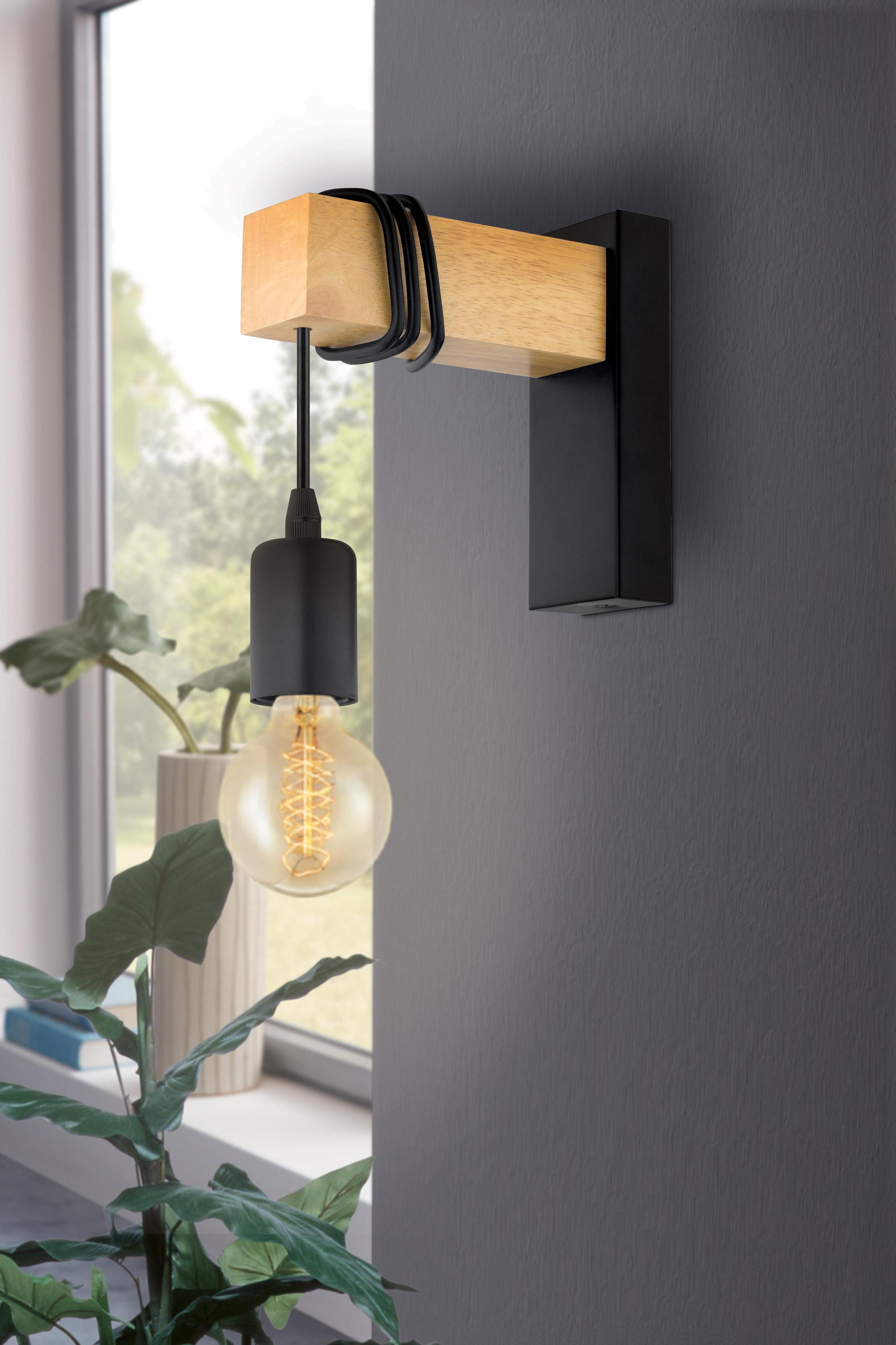 Applique, industriel métal noir EGLO Townshend 1 lumière(s)