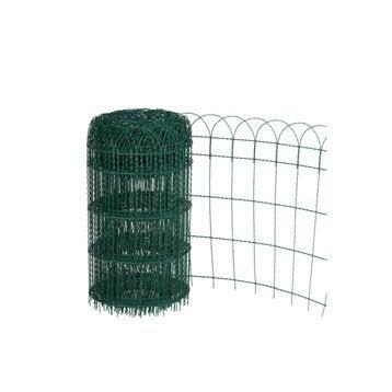 Bordure grillagée soudé Armor vert, H.0.4 x L.10 m, maille H.125 x l.78 mm