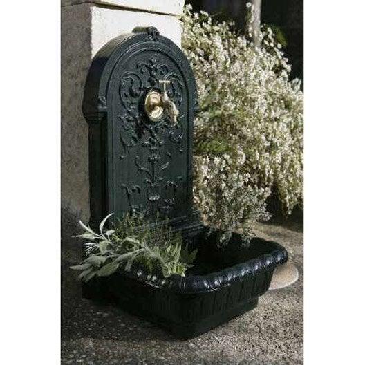fontaine de jardin en fonte vert renaissance leroy merlin. Black Bedroom Furniture Sets. Home Design Ideas