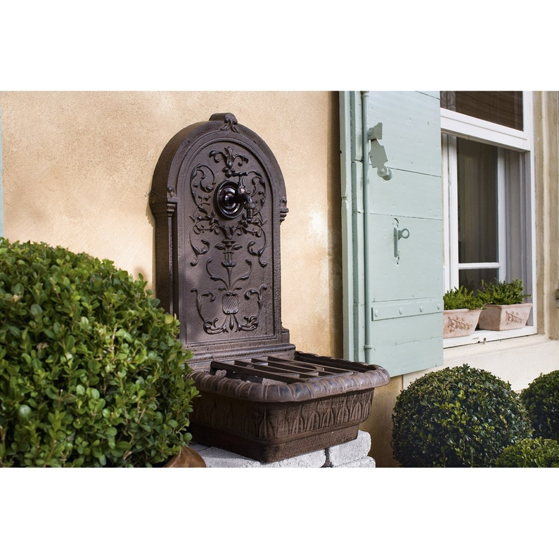 fontaine de jardin en fonte rouille renaissance leroy merlin. Black Bedroom Furniture Sets. Home Design Ideas