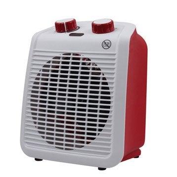 Radiateur soufflant salle de bain mobile électrique rouge EQUATION Five 2000 W