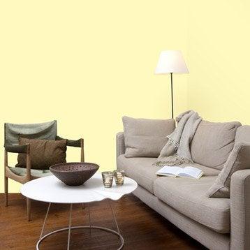 Papier peint intissé Textile nacré jaune