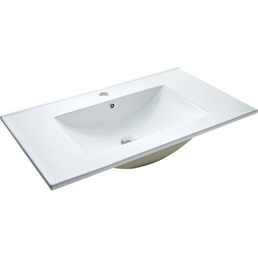 Lavabo vasque et plan vasque meuble de salle de bains for Plan de salle de bain rectangulaire