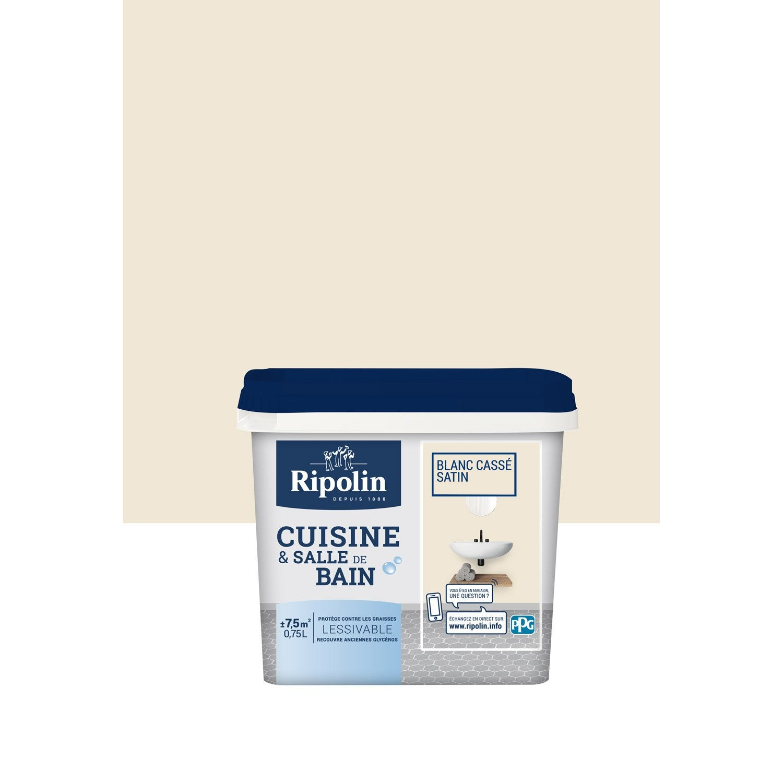 peinture cuisine et bain ripolin blanc cass233 075 l