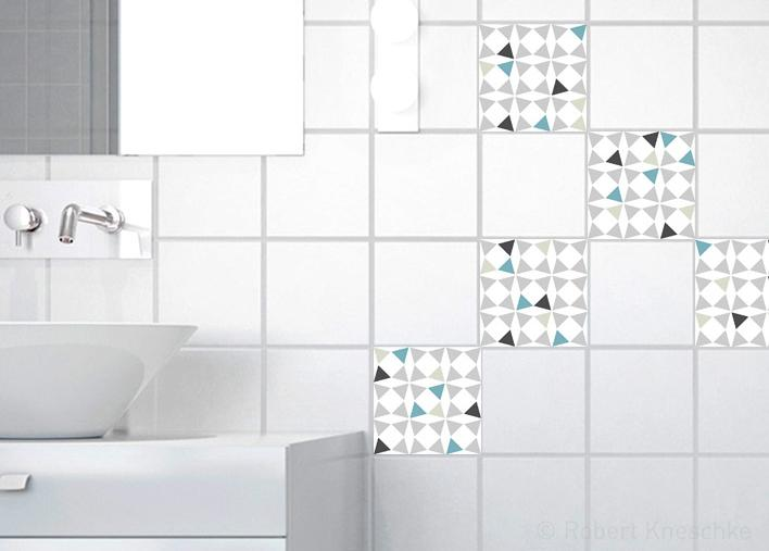 Stickers adhésifs carrelage mur Amandola 10 cm x 10 cm