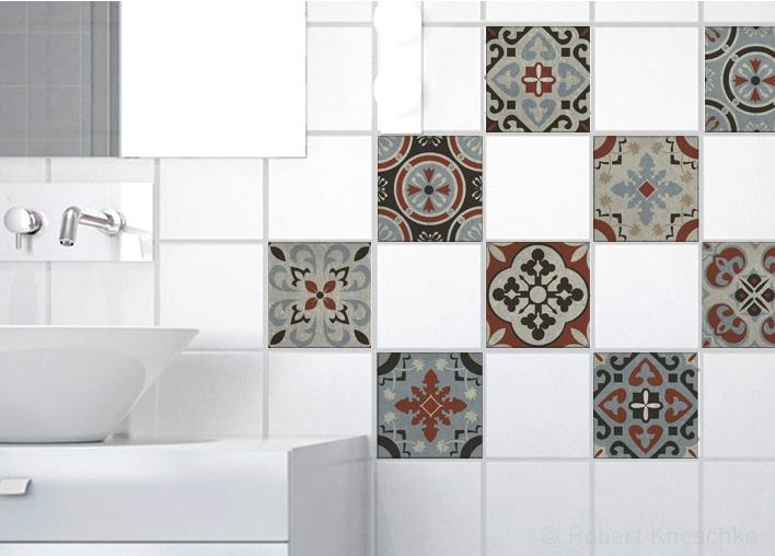 Stickers adhésifs carrelage mural Ozzano 10 cm x 10 cm