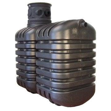 Cuve récupération eau de pluie enterrée 5000L, noire, SOTRALENTZ